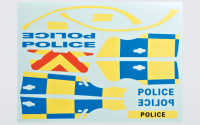 """Police"" decals set"