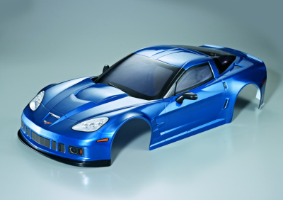 Corvette GT2 (1/7), metallic blue body, RTU all-in