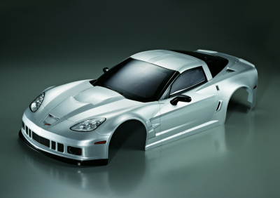 Corvette GT2 (1/7), silver body, RTU all-in