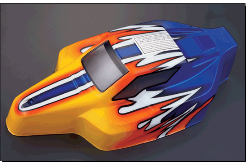 1/8 Nitro Racing Buggy Body - Printdesign