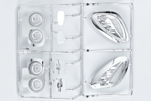 Corvette GT2 1/7 Chrome parts