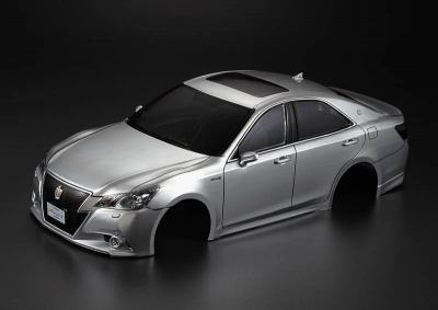 Toyota Crown Athlete (1/10), silver body, RTU all-in