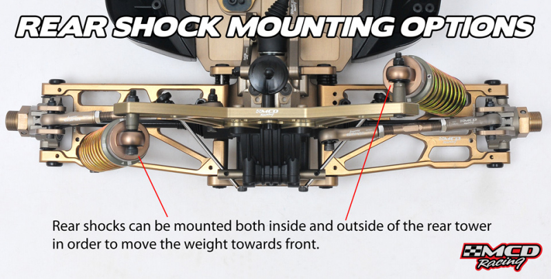 MCD RR5 Rear Shock Mounting Options