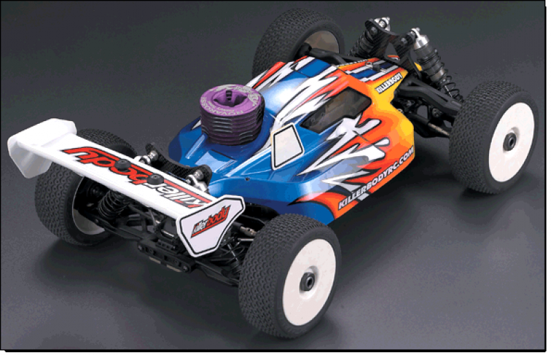 1/8 Nitro Racing Buggy Body - Aerodynamic Design