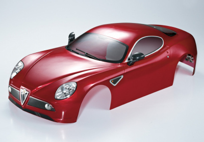 Alfa Romeo 8C (1/7), metallic red body, RTU all-in