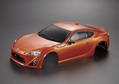 Toyota 86 (1/10), orange body, RTU all-in