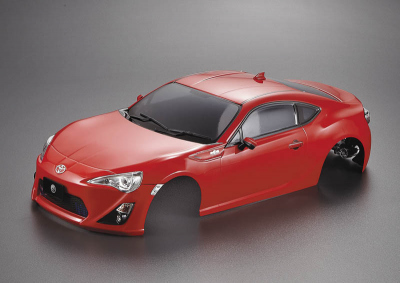 Toyota 86 (1/10), red body, RTU all-in