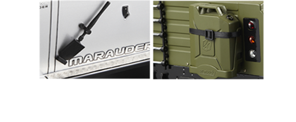 Marauder - Cloth Cable Ties & Plastic Jerry Can